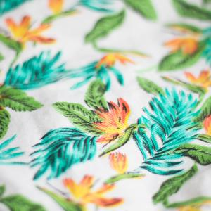 The tropical<br>print